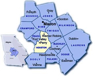 Warner Robbins Georgia Map.Warner Robins Ga Information Houston County Georgia Information